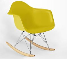 Mustard Yellow Eames Rocking Chair from Danetti.