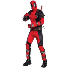 2020 Rubie's Costume Co. Men's Deadpool Grand Heritage Costume and more Men's Halloween Costumes, Superhero Costumes for Men for Halloween 2018, Deadpool Halloween Costume, Amazing Halloween Costumes, Halloween Fancy Dress, Adult Halloween, Devil Halloween, Spiderman Costume, Halloween Christmas, Halloween Outfits