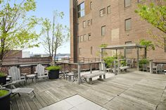 525 West 22nd Street - Apt: 5B  Manhattan, Chelsea: Where the High Line meets the West Chelsea Gallery District on W 22nd St, at the incomparable doorman Spears Condominium Building. Front facing with South City views, unit #5B currently configured as a 2 bedroom, one bath home, approx. 1,196sqft, accented with beautiful Pre-War finishes of exposed brick columns and walls, approx. 11' high wood slat ceilings, and gallery-like cement floors.