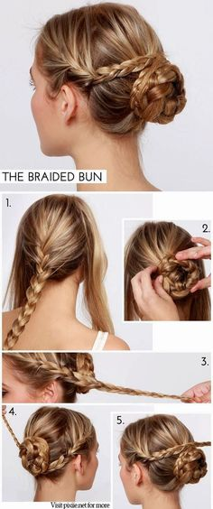 Hair Pixiie: DIY Braided Bun Hairstyles pinned from hair.pixiie.net