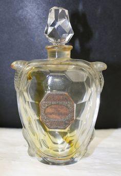 Antique Signed Baccarat Figural Tortoise Guerlain Perfume Bottle 1914