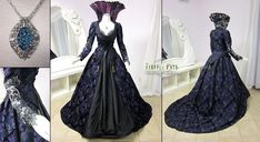 Regina Mills Once Upon a Time Purple Gown by Lillyxandra.deviantart.com on @deviantART
