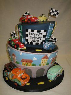 Amy Beck Cake Design - Chicago, IL - Cars 2 birthday cake - #amybeckcakedesign
