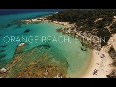 Orange beach (Kavourotripes)   Sithonia Greece Orange Beach, Beaches, The Good Place, Greece, Waves, Amazing Places, Outdoor, Beautiful, Videos