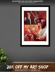 Discover «Pulp Fiction alternative poster», Limited Edition Fine Art Print by Javier Alamo - From 39€ - Curioos