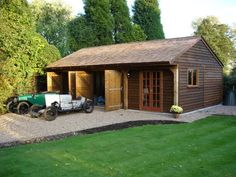 single storey double bay garage