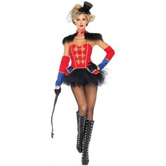 Sexy Ring Master Mistress Womens Costume Circus Lion Tamer Halloween Fancy Dress | eBay