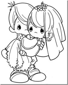 precious moments wedding coloring page - Wedding Coloring Pages