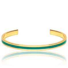 Bracelet Jonc Uni Vert Sauvage - Bangle-up