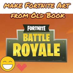 Make this cool Fortnite art work for free from an old book! Book Folding Patterns, Beautiful Patterns, Art Work, Reading, Words, Fun, Life, Artwork, Work Of Art