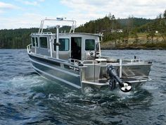 The Salish is a spacious off-shore model that is frequently used for law enforcement, commercial water taxis, sightseeing tours, harbour patrols, and . Aluminum Boat Kits, Aluminium Boats For Sale, Aluminum Fishing Boats, Fishing Yachts, Kayak Fishing, Tuna Fishing, Fishing Stuff, Cool Boats, Small Boats