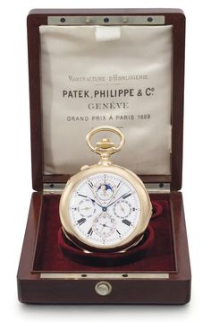 First Ever Grand Complication Pocket Watch by Patek Philippe, Made for Stephen Palmer - $2,251,750