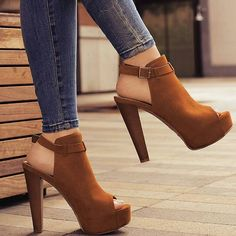 Lovely brown shoes for the much needed extra height