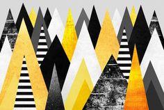 Yellow Peaks, an art print by Elisabeth Fredriksson - INPRNT