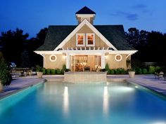 Timber frame pool house in New Jersey