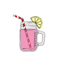 Mason Jar Image Pink Lemonade Digital Clipart by 641Digital, $1.00