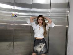 Kpop Girl Groups, Korean Girl Groups, Kpop Girls, Jeon Somi, Korean Singer, South Korean Girls, Alexander Mcqueen, High Waisted Skirt, Grunge