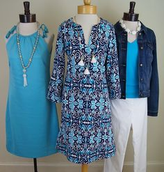 Gretchen Scott dress; Jude Connally dress; Judy P top, Tribal jacket, and Elliott Lauren pants