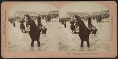 "This photo is titled ""Wringing Wet, Atlantic City, N.J."" and was taken sometime between 1875 to 1905. (NY Public Library Stephen A. Schwarzman Building / Photography Collection, Miriam and Ira D. Wallach Division of Art, Prints and Photographs)"