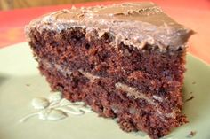 Chocolate Sauerkraut Cake, my Grandma would make this and you wouldn't even know that there's sauerkraut in it. You rinse the juice off of it.