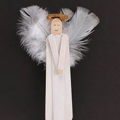 Put together different sized craft sticks to create a peaceful angel! Add feathers for realistic looking wings!