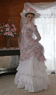 Recollections: Lady Johanna Polonaise Bustle set.  Late Victorian styling.