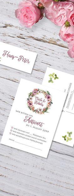 Antwortkarten Hochzeit Blütenmeer