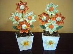 ♥ Vasinho com flor de fuxico ♥ | MAMÃE BABY | Elo7