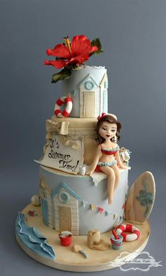 Pool party cake (adult)