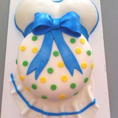 Pregnant belly babyshower cake!