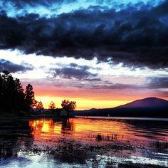 Big Bear Lake, CA summer sunset. Big Bear Vacation, Big Bear California, Summer Sunset, Summer Fun, Summer Time, Lake Shasta, San Bernardino National Forest, Heavenly Places, Beautiful Places To Live