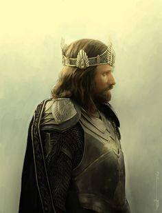 Elessar Telcontar. Born Aragorn son of Arathorn, foster son to Elrond Peredhil of Imladris, Chieftain of the Northern Dunedain, trueborn king of Arnor and Gondor.