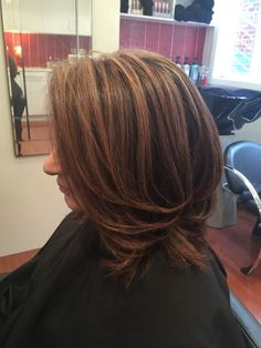 A natural level of a 3 ( very dark brown ) highlighted to a soft warm brown with peach lights in amongst the colour. Dark Brown Highlights, Lighter Hair, Salon Services, Coloured Hair, Melbourne Australia, Hairdresser, Salons, Hair Care, Hair Color