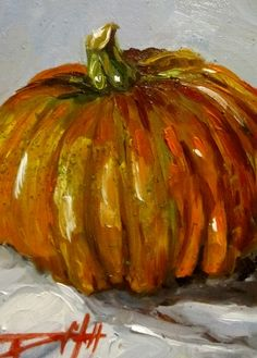 October Pumpkin, painting by artist Delilah Smith