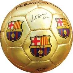 FC BARCELONA GOLD MEDIUM SOCCER BALL (SIZE 2) by F.C. Barcelona. $12.90. A terrific gift idea.. Perfect for display or a play with the littlest fans.. Official F.C. Barcelona Medium Soccer Ball (Size 2). Officially Licensed. Makes a great gift idea for all F.C. Barcelona fans. The soccer-ball ships deflated, and needs inflation upon arrival.