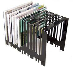 Peter Mclisky Barcode magazine rack