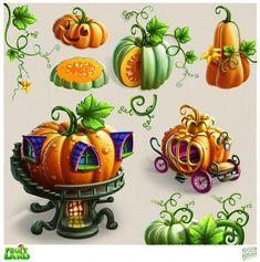 Fantasy Landscape, Fantasy Art, Game Concept Art, Environment Concept Art, Fantasy Illustration, Environmental Art, Halloween Art, Cartoon Art, Game Design
