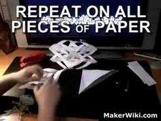 Rødhettes verden: Snøkrystall av papir (DIY)