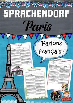 Sprachendorf Paris – Französisch Tandem, Paris, Teaching French, France, Speak French, Train Map, French Lessons, School Social Work, Classroom Supplies