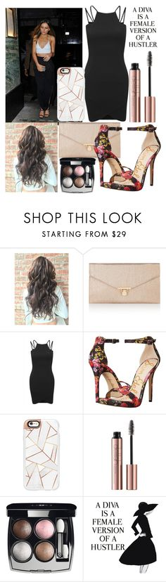 """""""Night out with Perrie"""" by diva-fashionista ❤ liked on Polyvore featuring Accessorize, AX Paris, Sam Edelman, Casetify, Chanel and WALL"""