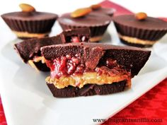 Strawberry Almond Butter Chocolate Cups 2