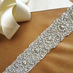 Pearl Wedding Sash Prom Sash ARKANSAS BEST by bigrockbridal