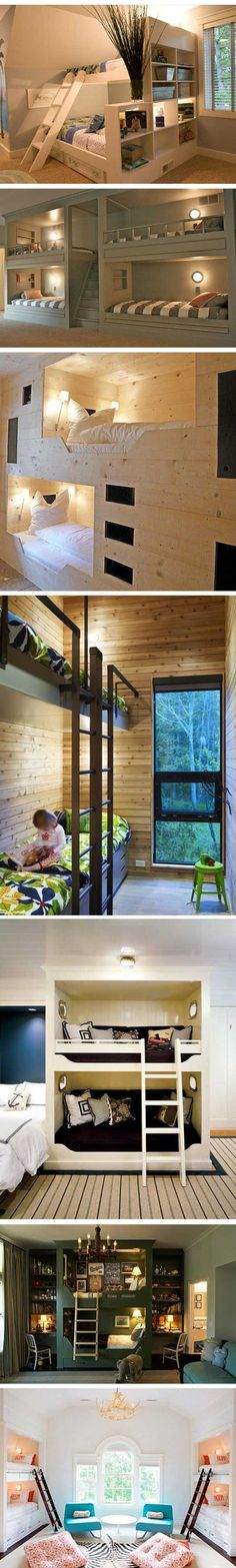 cool bunkbeds ◉ re-pinned by http://www.waterfront-properties.com/pbgoldmarshclub.php