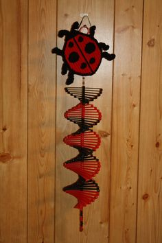 Plastic Canvas Lady Bug Wind Spinner by PlasticCanvasPlace on Etsy Plastic Canvas Crafts, Plastic Canvas Patterns, Diy Craft Projects, Diy Crafts, Craft Ideas, Wind Spinners, Mothers Day Crafts, Christmas Projects, Craft Work