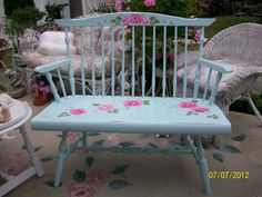 Hand painted bench