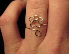 Wire Wrapped Single Paw Print MADE to ORDER Knuckle by 1ofAkinds