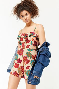e9f4b625f82 Product Name Floral Flounce Romper