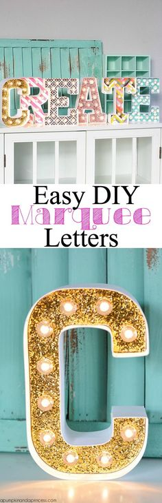 DIY Marquee Letters by @crystalowens