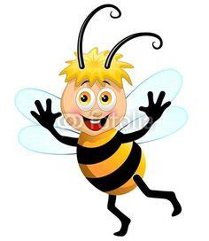 #Happy Cute #Bee Cartoon #Character! #Vector © bluedarkat #34085738 - http://us.fotolia.com/id/34085738/partner/200929677