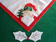 Papai noel da toalha de Natal